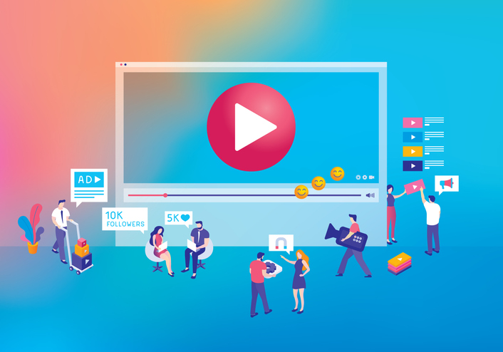 Video marketing concept for tax firms.